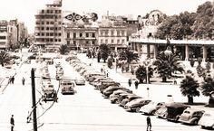 Inicios de la decada de los 1940s. Calle Angela Peralta.