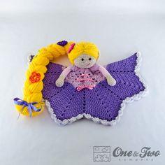 Rapunzel Lovey / Security Blanket PDF Crochet by oneandtwocompany