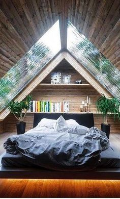 5 free DIY Tiny House plans to help you live the small and happy life # . 5 free DIY Tiny House plans to help you lead a small and happy life # tiny house , 5 Free DIY Tiny House Plans to Help You L. Dream Rooms, Dream Bedroom, Small Room Bedroom, Bed Room, Master Bedroom, A Frame Bedroom, Bedroom Ideas For Small Rooms, Nature Bedroom, Tiny House Bedroom
