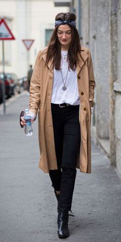 trench coat caramelo divino!