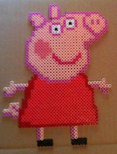Peppa Pig hama perler beads by cardinalchang on deviantart