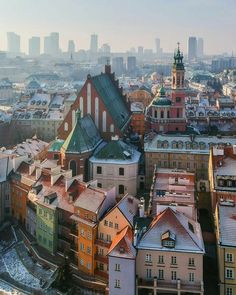 Warsaw old Town.  Completely destroyed during WW2, but now rebuilt as it was before.  An amazing, vibrant city.
