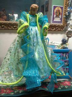 Angel navideño azul