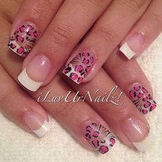 Sweet and simple pink leopard on white tip