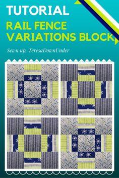 Video tutorial: Rail fence variations quilt blocks tutorial | Sewn Up