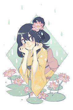 """Tsuyu must be my favorite girl from BNHA I mean they are all gorgeous, but I MEAN, FROPPY, ngngn"" My Hero Academia Tsuyu, Tsuyu Asui, Demon Girl, Monster Girl, Boku No Hero Academy, Girl Cartoon, Love Her, Kawaii, Manga Art"