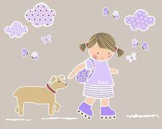 niña con perrito