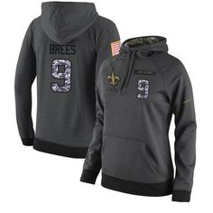 1cffac840885 NFL Women s Nike New Orleans Saints  9 Drew Brees Stitched Black Anthracite  Salute to Service · Cheap Baseball ...