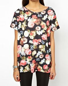 Image 3 ofGlamorous Oversize T-Shirt in Tapestry Floral