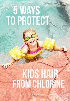 We spend a lot of time at the pool in the Summer and we've dealt with our fair share of crunchy, dry, sometimes even green, pool hair! Here are some tried and true tips for preventing and treating chlorine damaged hair.