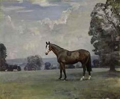 Sir Alfred James Munnings, Portrait of Jaunty, in the park at Toulston, Tadcaster