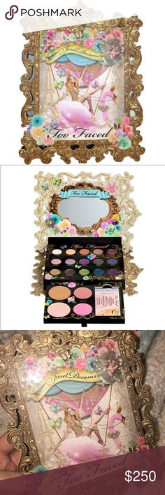 """🌟☁️🌸Too Faced """"Sweet Dreams"""" Palette! 🌸☁️🌟 This is a TRUE Collectors piece that is worth hundreds of dollars!! 🌟🌟🌟 Sells for up to $400!! It is very lightly used and in an AMAZING overall Condition!! 🌟💯🙌 Super RARE and HARD to find!! 100% Authentic as Always!! 💯💯 Gifts with Purchase!! 😘😘 Bundle and SAVE!! TV on this is $400 due to the nature of it. No box. Too Faced Makeup Eyeshadow"""