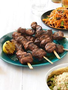 Moroccan lamb skewers