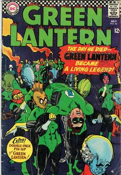Green Lantern # 46 , July 1966 , DC Comics Vol 2 1960 On the cover : Green Lantern [ Hal Jordan ] ; Comic Books For Sale, Dc Comic Books, Comic Book Covers, Comic Art, Dc Universe, Comic Book Makeup, Dc Comics, Green Lantern Comics, Green Lantern Hal Jordan