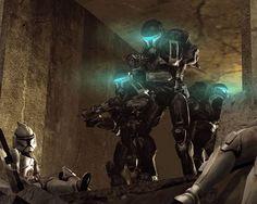 Omega squads black Mark III Katarn armor