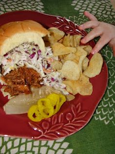 my Slow-Cooker BBQ Pulled Pork Sandwich.