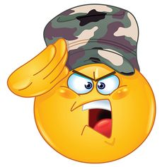 Illustration about Soldier emoticon saluting saying yes sir. Illustration of hand, helmet, emoticon - 29853470