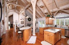 Rice, Minnesota | Flickr - Blueoxtimberframes , great kitchen islandS!