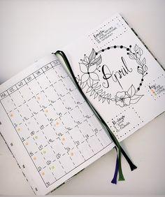 Bullet Journal Monthly Log April