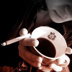 Coffee and a cigarette. morning cigarette smoking.  http://socialsmoking.com if you smoke.