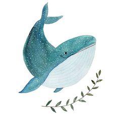 Happy whale Art Print by Tina van Dijk Art - X-Small Whale Illustration, Illustration Noel, Illustrations, Whale Drawing, Illustration Inspiration, Posca Art, Whale Art, Arte Sketchbook, Ocean Art