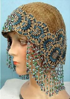 c. 1920's  Beaded Flapper Headdress.    I desperately need one. I don't know why, I just do!