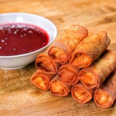 Tasty Food: Thanksgiving Leftovers Egg Rolls With Sweet & Sour Cranberry Sauce