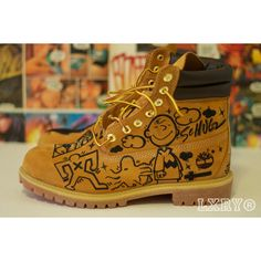 Timberland Custom Boots ($300) found on Polyvore