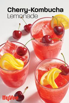 This is your new favorite healthy summer mocktail. Puckery, sweet, and full of good-for-you probiotics, this bubbly drink will hit the spot. Plus, the recipe is super easy to make. Find everything you need at your local Hy-Vee or shop online at Hy-Vee.com. Healthy Summer, Summer Fun, Beverages, Drinks, Kombucha, Juices, Grapefruit, Punch Bowls, Lemonade