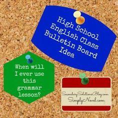 High school grammar bulletin board ideas