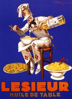 ¤ Vintage French Ad : Lesieur, Huile de table