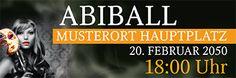 Moderne Abiball Banner von www.onlineprintxxl.com #onlinedruckerei #onlineprintxxl #abiball #abibälle #abiballdesign #abiballbanner #abiballwerbebanner