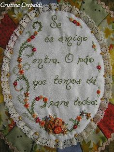 Bordado por Cristina Crepaldi | Embroidery by Cristina Crepaldi