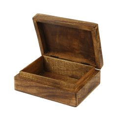 aheli Wooden Shabby Chic Floral Hand Carved Jewelry Trinket Keepsake Box for Home Decor