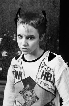 Punk girl in Soho, 1977. Photograph: Derek Ridgers