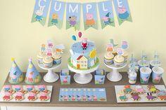 Peppa & George Pig Birthday Party via Kara's Party Ideas   KarasPartyIdeas.com #peppapigparty (11)