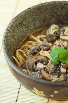 Spicy Mushroom Miso Ramen - Vegan