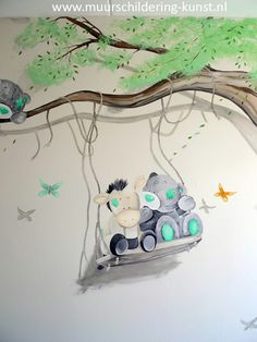 me to you babykamer muurschildering