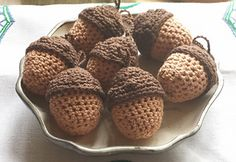 This pattern creates adorable acorns using 2 strands of size 10 crochet cotton and a size 4 (2mm) steel crochet hook. Perfect for a bowl filler, garland or even a sachet. This pattern requires 2 shades of brown thread and a small amount of polyfill (or cotton balls) An enjoyable, quick, take along project.