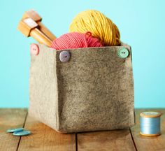 How to make simple felt storage bins