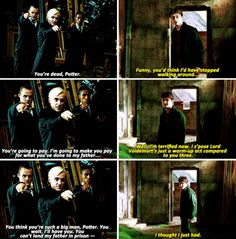 Harry Potter and Draco Malfoy - the book moments