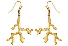 Gold Coral Earring on OneKingsLane.com