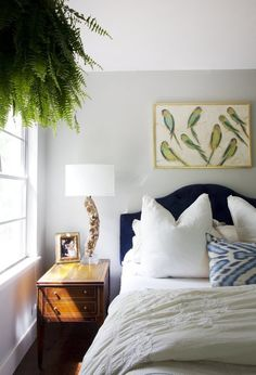 Bedrooms With Properly Hung Art | Apartment Therapy