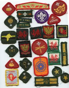 Old School Scout Badges