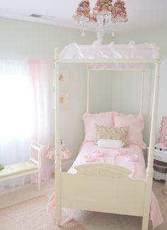 oh a canopy bed, in pink, just like I wanted when I was 8