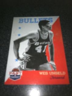 Wes Unseld Brand New * 2011-12 Past & Present * NBA Basketball Card Washington Bullets Free Ship $2.00