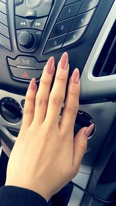 Blush nail color on oval/stiletto nails