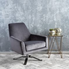 Found it at AllModern - Edmund Swivel Club Chair