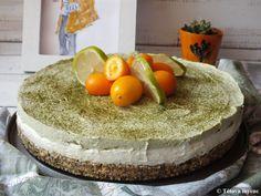 Matchás-mákos sajttorta   Tétova ínyenc Matcha, Vanilla Cake, Tiramisu, Lime, Ethnic Recipes, Desserts, Food, Tailgate Desserts, Limes
