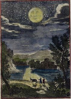 Alain Manesson Mallet, Description de L'Univers: Lunar-danse: view of moon, 1719 (Paris editions 1683-c1719)